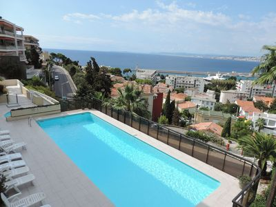 Photo for Apartment with Panoramic Sea Views, Communal Pool