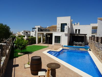 Photo for Luxury Villa with Private heated Pool Games Room & Bikes