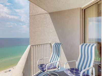 Photo for Gulf-front condo w/ view, 3 resort pools, tennis & 1,500 ft of resort beachfront