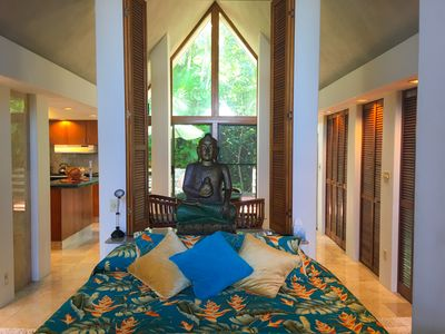 Jasmine House - Private Hot Tub in Yard with Lotus Pond and Ocean Views