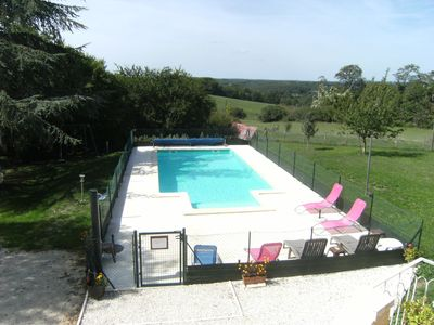 Photo for Gîte plantier *** 4 to 12 pers with private pool between Sarlat and Rocamadour