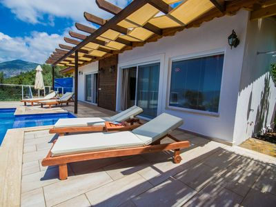 Photo for Secluded Charming Villa Donat Duo for Four Guests, Great Views & Private Pool