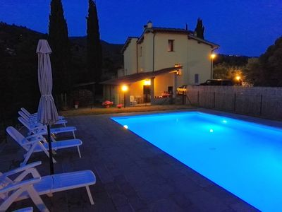 Photo for Appartment with swimming pool 30 min of Florence, private garden, parking, WiFi