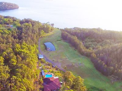 Relax with 11 Hectares of lakefront secluded living all to yourself.