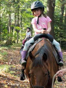 Children's pony rides for our farm stay guests