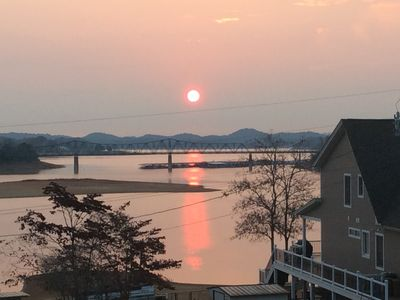 Photo for Beautiful 2 bedroom, 2 bath house with large deck overlooking Cherokee Lake