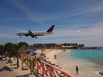While on Maho beach, It feels like you can almost touch the jets when landing!