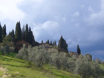 Photo for authentic Tuscan farmhouse with panoramic views over the Val di Pesa