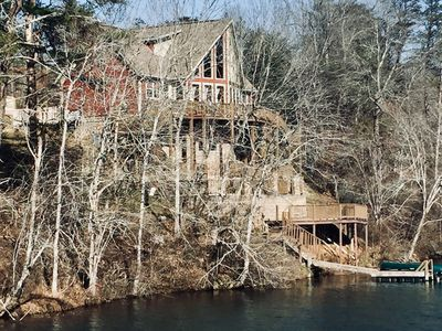 Photo for Gorgeous Views of Lake and River one of a kind property sitting on the dam