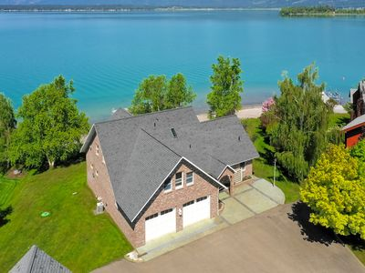 Photo for Luxury lakefront home w/ private dock/beach, amazing views & firepit!