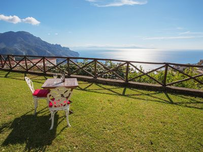 Photo for Casa Ravello with garden is a very beautiful apartment in Ravello center, with private panoramic gar