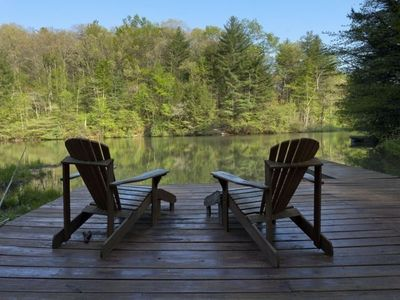 Photo for Clear Lake is a lakefront cabin with a spacious private dock . Pet-friendly.