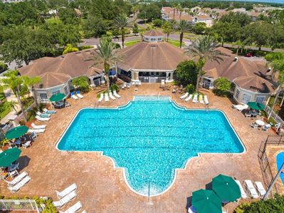 Air view of the pool