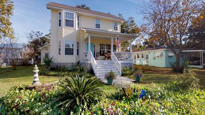 This modern Tybee beach house is located at the south end of the Island