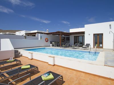 Photo for Modern Villa with Stunning Views, Private Pool & Pool Table