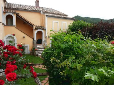 Photo for Vintage villa nestled in the green between the Amalfi Coast and Cilento.