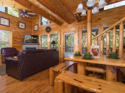 Photo for Second Nature | Peaceful Wooded View | Wi-Fi | Pets Welcome | Community Pool | Hot Tub | Sleeps 16