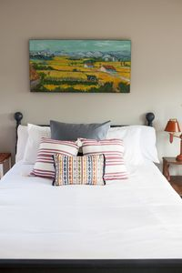 High thread count bedding, down comforter to ensure a luxurious sleep.