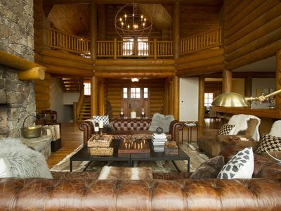 Photo for Stratton Mountain  LABOR DAY Weekend Special  Large Luxury Log Home  6 bedrooms