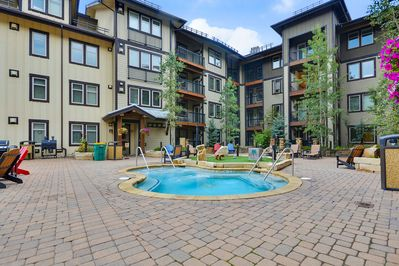 Ready for the hot tub? Complimentary access while staying at Fraser Crossing.