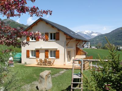 Photo for At the heart of the valley of champsaur, warm classified 3 * house with garden
