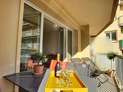 Photo for Renovated apartment in downtown Antibes just 300m from the sandy beaches