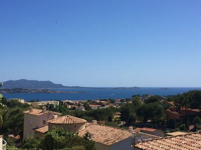 Photo for Spacious top villa T4 of 150m² with sea view terrace, garden, parking, wifi