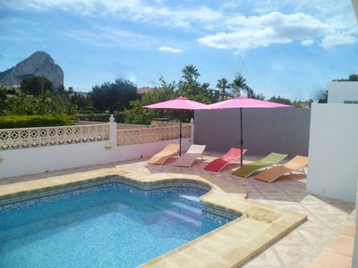 Photo for Nice villa with private  HEATED Pool, Beach & Centre = 700meter, WIFI