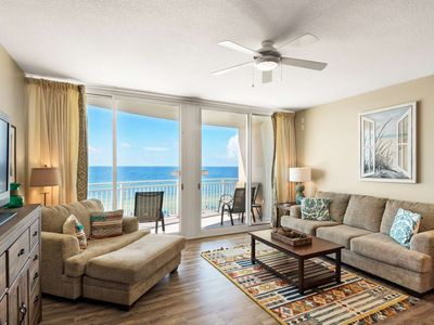 Photo for 4th Floor Gulf Front Balcony Free Wifi Walk to Pier Park Free Fun Included, Aqua
