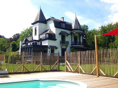 Photo for A beautiful house with swimming pool situated in the Domaine du Manoir.