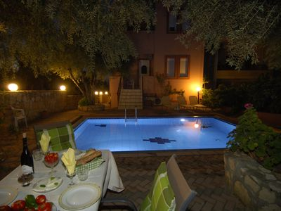 Photo for Quiet Villa,private pool,seaview,near to beaches and the town