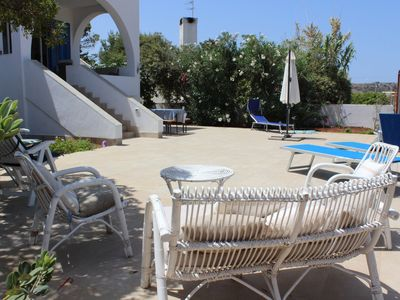 Photo for mother house villa with direct access to the beach of san vito lo capo