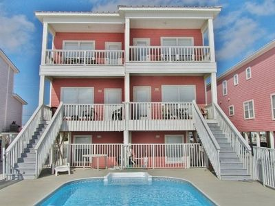 Photo for Direct Beachfront duplex With Private Pool ~ 5 Bedroom /3 Bath ~ Sleeps 14