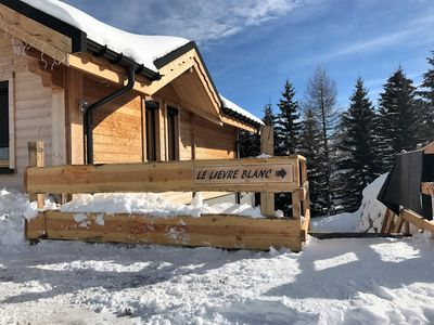 Photo for CHALET 8 PEOPLE 80 M2 GROUND FLOOR FOOT OF SLOPES