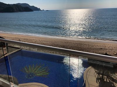 Photo for Beach Front Luxury Condo in the middle Barra de Navidad Bay, Tropical Paradise t