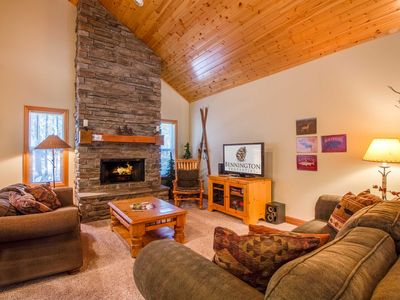 Photo for Lodge Decor, Single level, Open Concept, PingPong & Foosball, Hot Tub- TIMB03