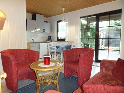 Photo for Cozy, small cottage quiet in the garden, with sauna, 350 m to the beach