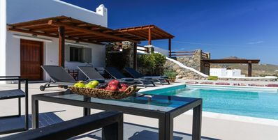 Photo for Ortus Ivory Mykonian Lux Villa with POOL!