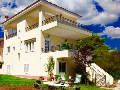 Photo for Dion House with garden and Sea View in Nea Makri