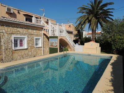 Photo for Spacious villa in denia, wifi, private pool, barbecue with wifi