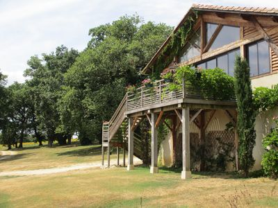 Photo for Stone Barn Loft in Armagnac, Gascony, for up to 4 guests with pool