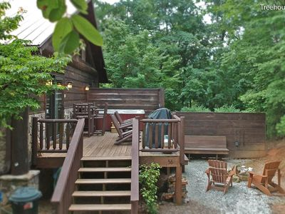 Photo for Treehouse A-Watershed Cabins-Cozy Indoor Fireplace