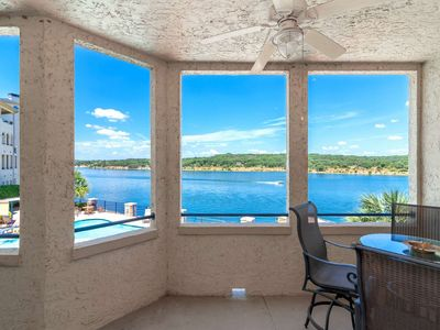 Photo for Lake Travis Waterfront Condo - Water Views from Deck - Steps from Pool - Indoor/Outdoor Pool & WiFi