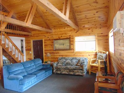 Our Hunting Lodge has a wonderful, bright, and open feel.