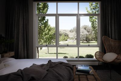 Lie back and enjoy the views from the Master Bedroom king size bed
