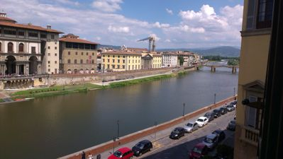 Photo for Apartment 7 double, triple, quadruple rooms - beautiful view over the Arno river
