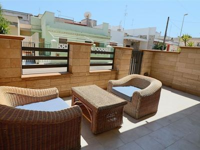 Photo for Torre Sea apartment in Ugento with WiFi & private terrace.