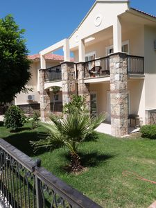 Landscaped & maintained gardens outside the villa close to the pool