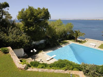 Photo for Family friendly lux apartment by the beach w/ pool,best view, 25mins from Athen