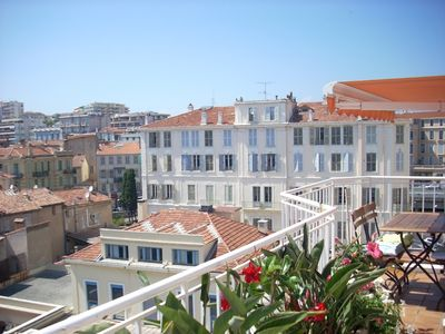 Photo for Penthouse apartment in the centre of Cannes, 3mins walk to the Beach
